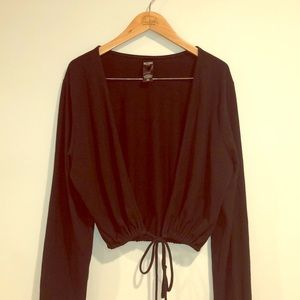VICTORIA'S SPORT Black Long Sleeve Pull Over